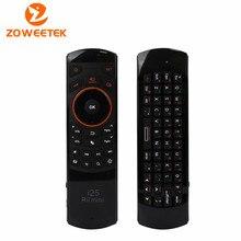 Zoweetek d'origine rii mini i25 2.4 Ghz Air Mouse télécommande avec clavier anglais pour Samsung Smart TV Android TV BOX