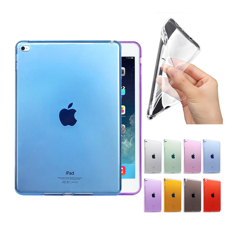 Case for ipad 9.7 inch 2017, Soft Transparent TPU Back Case Cover Silicone for Apple 9.7 inch 2017 Protective Shell Skin tablet