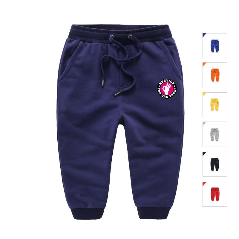 Baby Boys Girls Running Pants Casual Cotton Sport Trousers Kids Slacks For 2-8 Years Old
