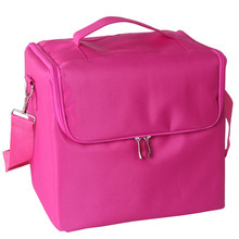 Professional 1PC New Fashion Makeup Bags Cloth Cosmetics Boxes Portable Shoulder-style Artists Travel Wash Bag Best Ladies gift