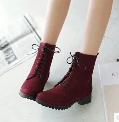 3f8de364f18 Women 's Shoes Laced Boots Ladies' Boots 40 41 42 43 44 45 46 47 Small Size  33 Martin Boots