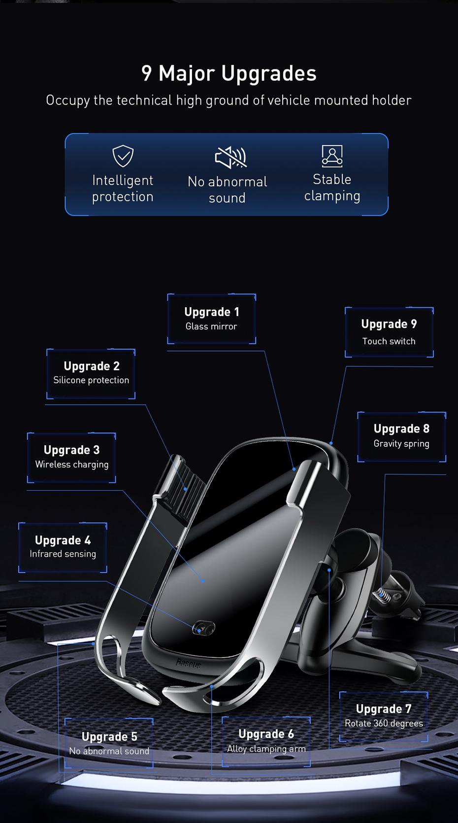 Cargador inalámbrico de coche Baseus 5