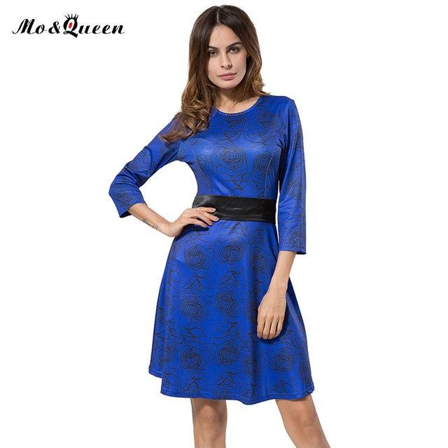 Marrom outono dress mulheres casuais 2016 nova chegada ajuste e flare vestidos de mulheres elegante fashion dress mulheres na altura do joelho de poliéster