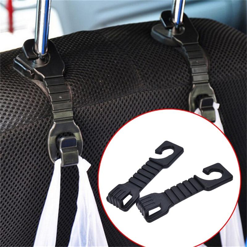 1 Para Auto Rücksitz Haken Halter Auf Kopfstütze Car Styling Zubehör Für Tasche Geldbörse Tuch Grocer Flexible Auto Kleiderbügel Seien Sie Im Design Neu