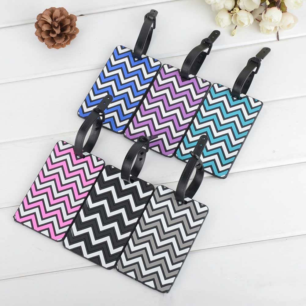 1 pc Wave Pattern Luggage Card Silicone Name Hang Tag Hangtag For Luggage/Suitcase 10.5*6.5cm