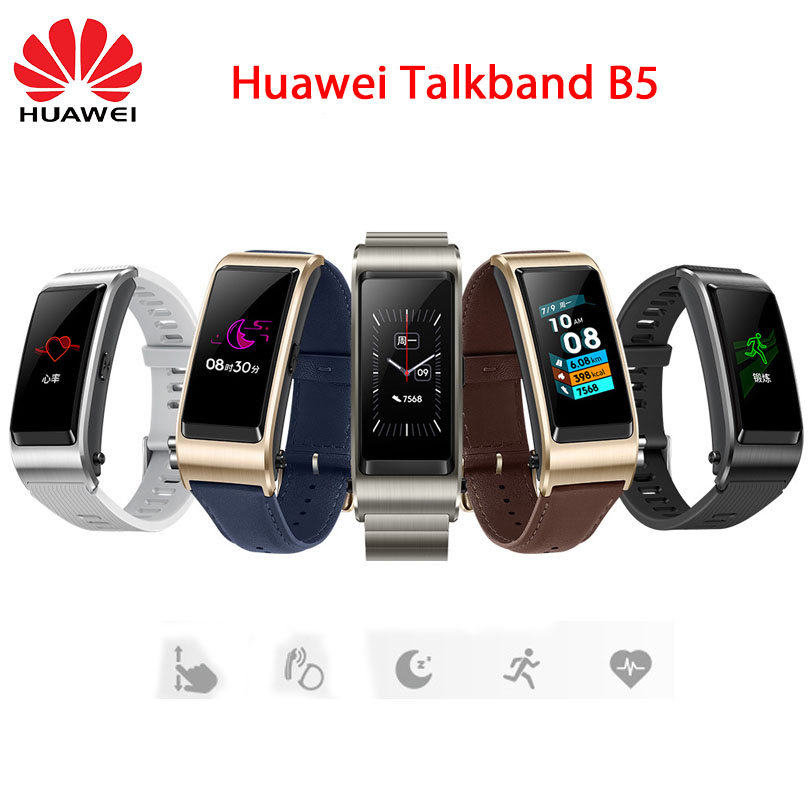 NEW Huawei Talkband B5 Bluetooth Smart Bracelet Wearable Sports Wristbands Touch AMOLED Screen Call Earphone