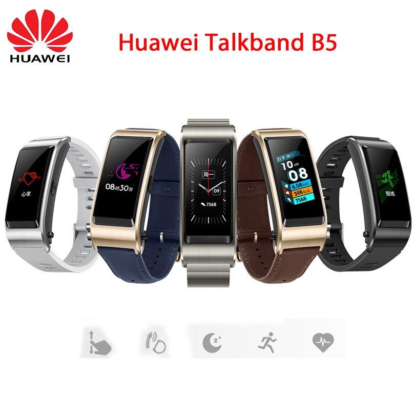 新華為 Talkband B5 Bluetooth スマートブレスレットウェアラブルスポーツリストバンドタッチ Amoled スクリーンコールイヤホン  グループ上の 家電製品 からの スマート リストバンド の中 1