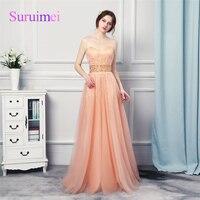 무료 배송 실제 사진 사용자 정의 만든 산호 복숭아 컬러 이브닝 드레스 2018 fomal 이브닝 파티 드레스 파티 드레스 여성