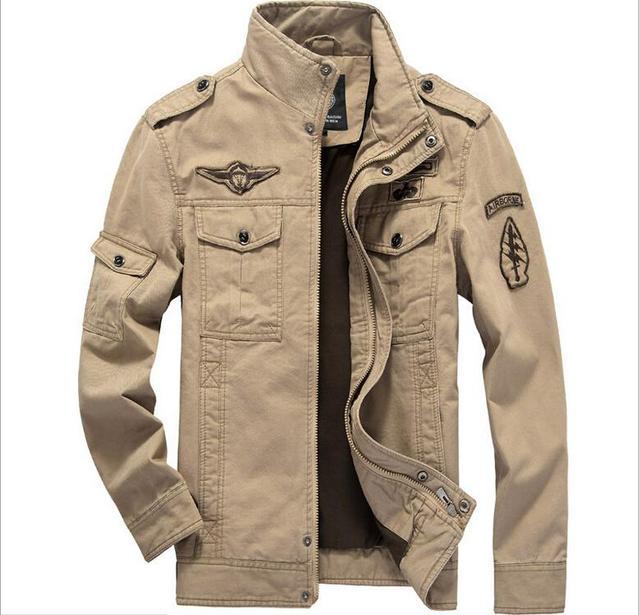 debe4b0ef2485 Chaqueta para hombre algodón militar 2015 alta calidad Casual nueva famoso  chaqueta marca hombre exterior delgado