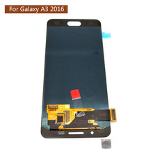 Super amoled LCD For Samsung Galaxy A3 2016 A310 A310F A310H A310M A310Y LCD Display With Touch Digitizer Screen 100% Tested