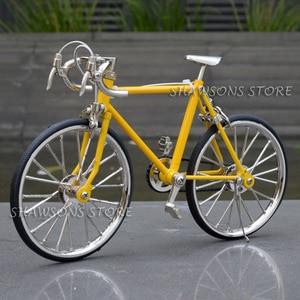 Image 4 - Diecast דגם צעצועי 1:10 מרוצי אופני אופניים העתק מיניאטורי אוספים