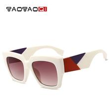 TAOTAOQI Brand Cat Eye Sunglasses Women Fashion Square Designer Frame Men Vintage Female Eyewear UV400 oculos de sol