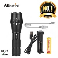 AloneFire E17 LED Flashlight 18650 Zoomable LED Torch Xml T6 3800LM Led Focus Zoom Light For