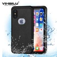 Für iPhone X Wasserdichte Fall Heavy Duty Hybrid Schwimmen Tauchen Skifahren Hard Cover Wasserstaub Stoßfest Telefon Tasche DFSIX