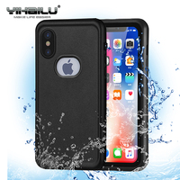 For IPhone X Waterproof Case Heavy Duty Hybrid Swimming Diving Skiing Hard Cover Water Dust Shock