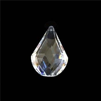 Basket 100pcs K9 Glass Crystal Prisms Pendants Chandeliers Parts Lustres Transparent Lamp Lighting Hang Drops Pendants Decor