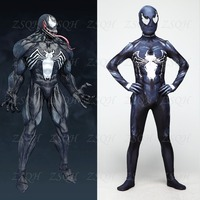 Venoms Cosplay Costume Spiderman Suit Skin Tight Suits Spandex Jumpsuit Full Body Bodysuit Halloween Costumes For kids Adult