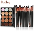 O  15 Colors Contour Face Cream Makeup Concealer Palette Professional + 20 Brush Dropship