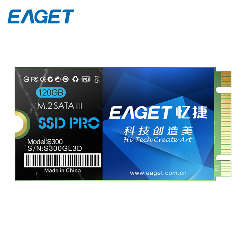 Original EAGET S300 120GB Solid State Disk High Speed M.2 SATA 3.0 Shockproof SSD With 120GB Capacity For Laptop 22x42mm kingspec 60gb 120gb m 2 solid state drive ngff m 2 interface ssd pcie mlc for lenovo thinkpad hp asus laptop notebook