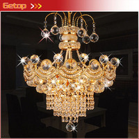 Luxury K9 Crystal Chandelier Modern Dinning Room LED Crystal Lamp Living Room Fashion Gold Silver Crystal