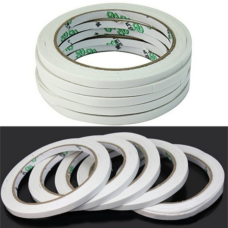 10 Rolls/lot Adhesive White Double Sided Tape Sticker High Quality Gel Adhesive Double Sided Tape Office School Supplies10 Rolls/lot Adhesive White Double Sided Tape Sticker High Quality Gel Adhesive Double Sided Tape Office School Supplies