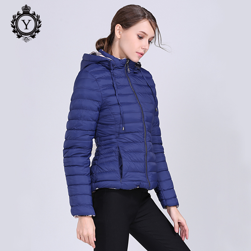 COUTUDI Stand Collar Short Parka Cotton Wadded Womens Winter Jackets Mujer Invierno 2018 New Reversible Coat Women Winter Jacket