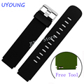 Quality silicone watch band 21*18mm for withings activite/steel/Pop/HR soft rubber watch strap