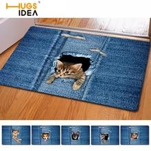 HUGSIDEA Kawaii 3D Джинсовые Кошка Собака Carpet нескользящей Кухня Ковры Tapetes Пункт Casa Sala для Гостиной Alfombras ковер Салон