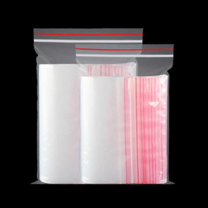 100pcs/pack Transparent Small Zip Lock Plastic Bags Ziplock Zipped Clear Jewelry Gift Bag Reclosable Storage Bags Pouch