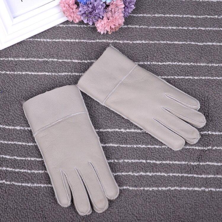 Зимние перчатки, детские перчатки с натуральным мехом для детей, толстые кожаные перчатки с кроличьим мехом, шерсть, Детские российские теплые перчатки с пятью пальцами