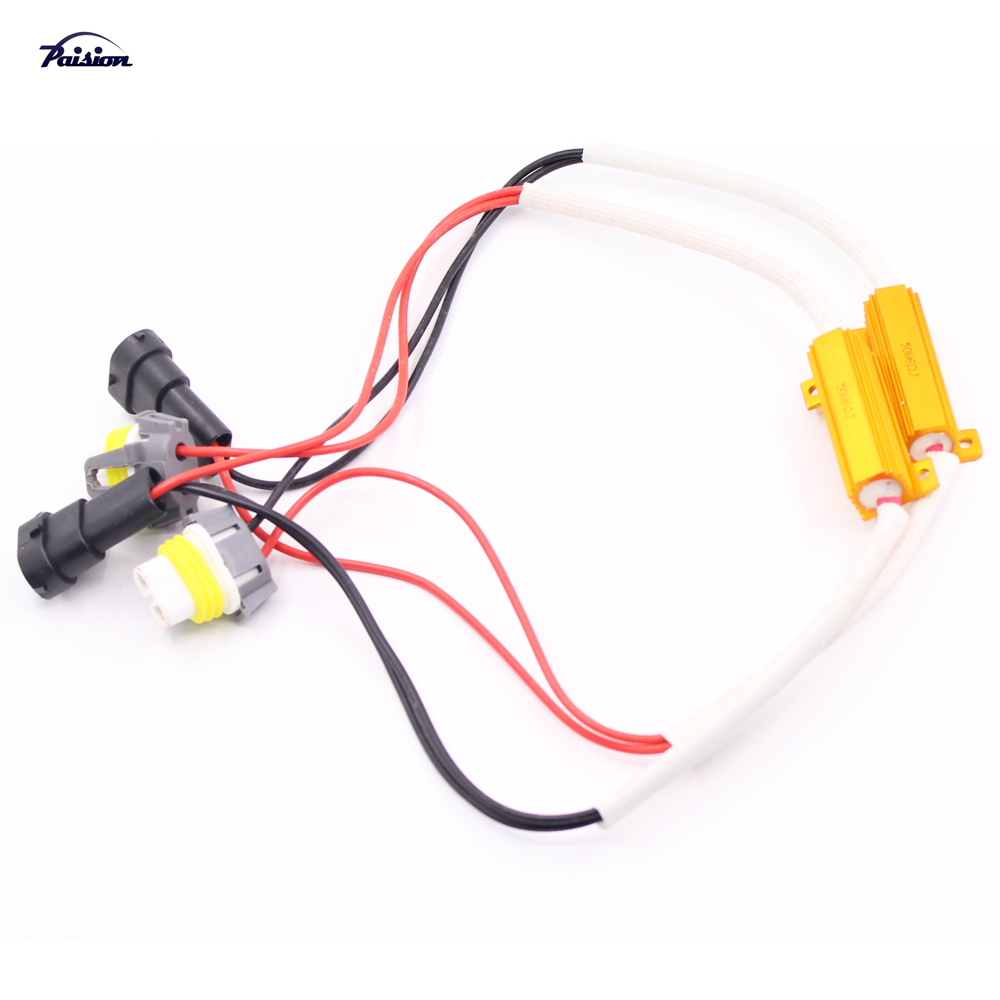popular led light resistor buy cheap led light resistor lots from 2pcs h11 h8 led light fog xenon hid no error load resistor wiring harness adapter