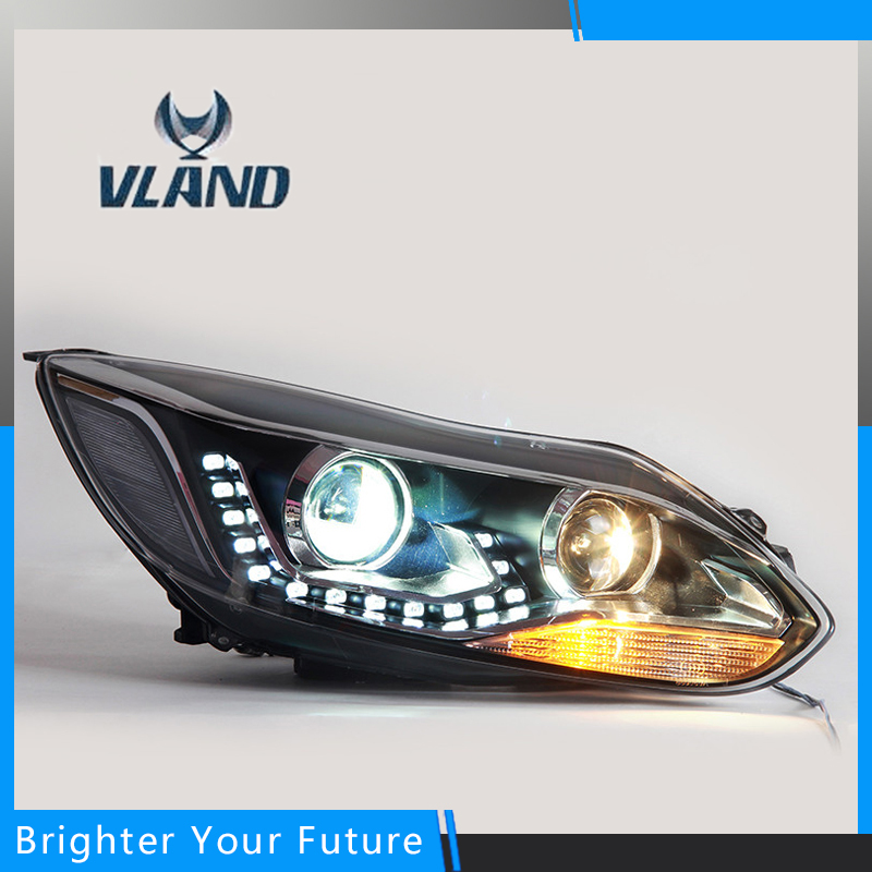 Two Type Headlight Assembly For Ford Fucos Head Lamp Headlight 2012-2015 right combination headlight assembly for lifan s4121200