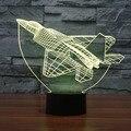 3D Оптическая Иллюзия Лампы Спальня Комната Декоративные Multi Изменение Цвета USB Кнопки Касания СВЕТОДИОДНЫЕ Настольные Таблица Ночь Свет Игрушки для дети