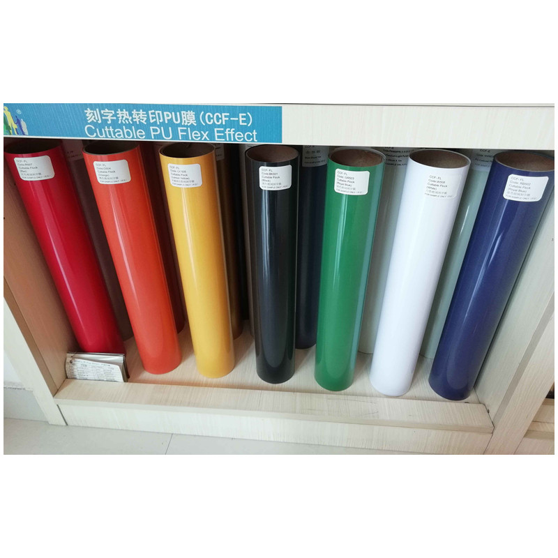 Flock Cuttable Pu Flex Vinyl Film Red/Black/White/Blue/Orange/Lemon Yellow/Green 7 Color 0.5mx1m Roll Size (20