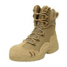 Армия США Мужчины Открытый Подлинная Полное Зерно Кожа Пустыни Тактика Военные Ботинки Мужчины Военная Тактическая Сапоги Botas Хомбре Chaussures