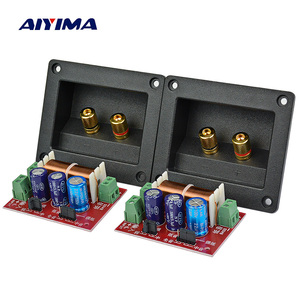 AIYIMA 2Pcs 400W Speaker Crossover 2 Way Audio Adjustment Tweeter Bass Speakers Filter Frequency Divider For 2-16Ohm DIY Speaker