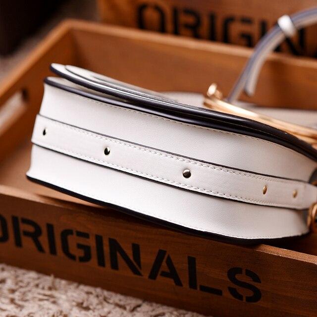 Women Fashion Designer Big Ring Detail Flap Satchel Cross-body Shoulder Handbag Bag WB182