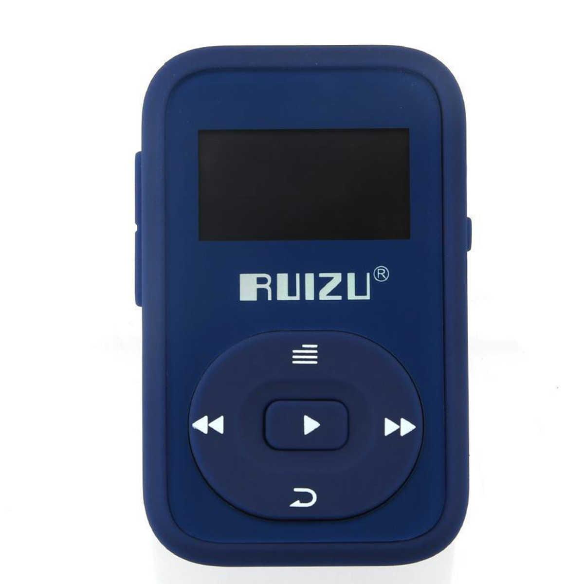 Мини оригинальный RUIZU X26 клип Bluetooth MP3 плеер 8 ГБ Спорт mp3 музыка Регистраторы FM радио Поддержка TF карты флэш-памяти игроков