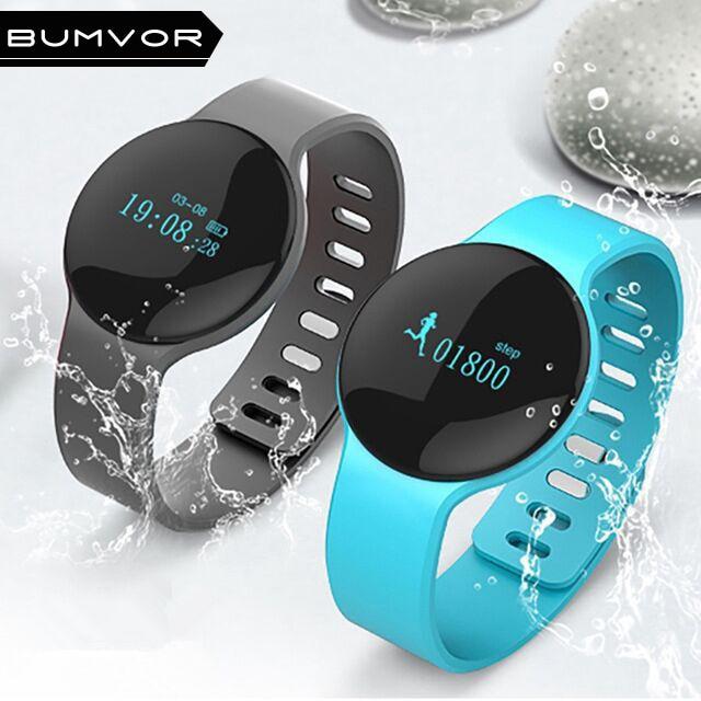 BINZI Bluetooth 4.0 Necklace Step Counter Sport Activity Fitness Tracker Smart wacth Bracelet Wristband Better Than Fit Bit H8