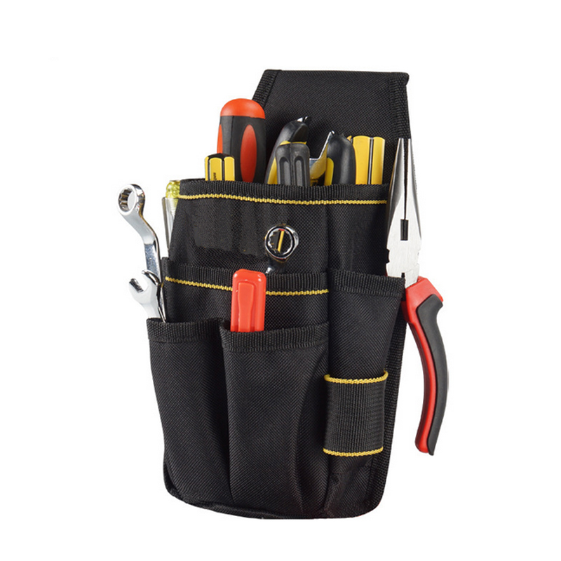 d821a437de43 US $8.99 10% OFF|Professional Electrician Tool Bag Belt Pouch Work Tape  Buckle Convenient Tool Bag with Waist Belt-in Tool Bags from Tools on ...