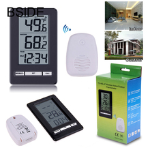 Wholesale prices Digital LCD Thermometer Remote Wireless Electronic Temperature Meter Weather Station Indoor Outdoor Tester