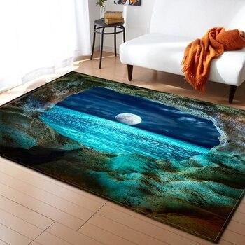 Alfombra con diseño de paisaje de gran tamaño para sala de estar,...