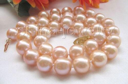 LIVRAISON GRATUITE >>>@@> lustre Magnifique 17.5 12mm rond rose perle deau douce collier-or fermoir ^^^@^ Noble style Naturel FiLIVRAISON GRATUITE >>>@@> lustre Magnifique 17.5 12mm rond rose perle deau douce collier-or fermoir ^^^@^ Noble style Naturel Fi