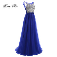Long Evening Dress 2016 A Line Floor Length Tulle Elegant Party Formal Prom Gowns Cheap