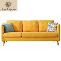 TOIN Three Seat Sofas Set Living Room Furniture Moveis Modern Furnitures Three Seaters Sofas China Yellow