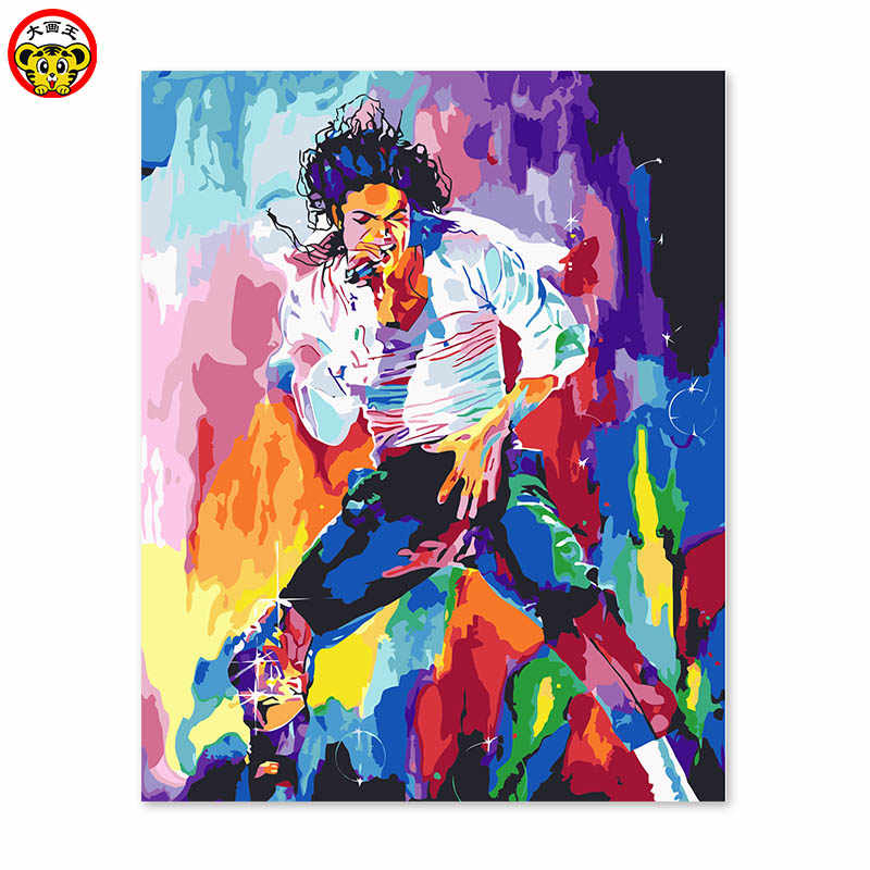 painting by numbers art paint by number Dance king Mike Jackson dance street Abstract celebrities   DIY gift hand wild personali