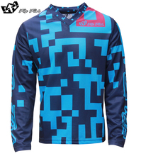 FLY FISH Racing GP Air Jersey Maze Turquoise/Navy MX MTB Off Road Mountain Bike DH Bicycle moto BMX motocross jersey
