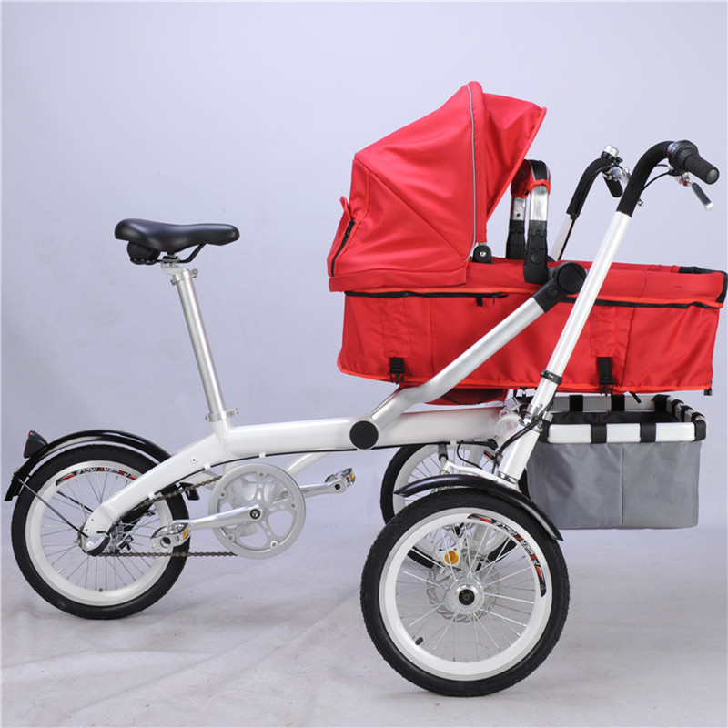 Ta Ga Baby Stroller Mother Three Wheels Tricycle Fashion Baby Stroller Organizer Kids Bike Strollers 3 in 1 Prams new child tricycle 3 wheels baby stroller bike ride on cars kids bicycle prams and pushchairs baby stroller 3 in 1