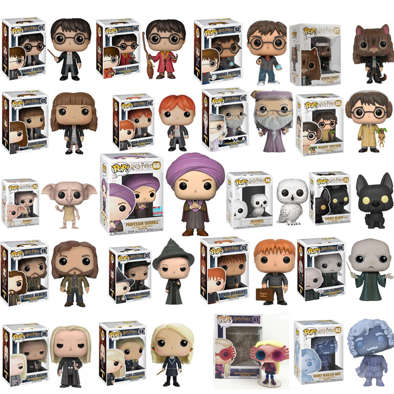 Funko POP Harry Potter Snape, Luna, Dobby, RON WEASLEY PROFESSOR QUIRRE Figure Dolls Collection Figure