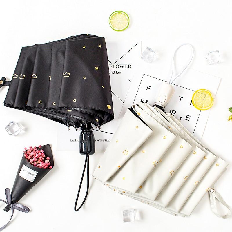 Automatic umbrella large folding mini compact portable anti-UV sunshade umbrella female rain dual-use sun umbrella women